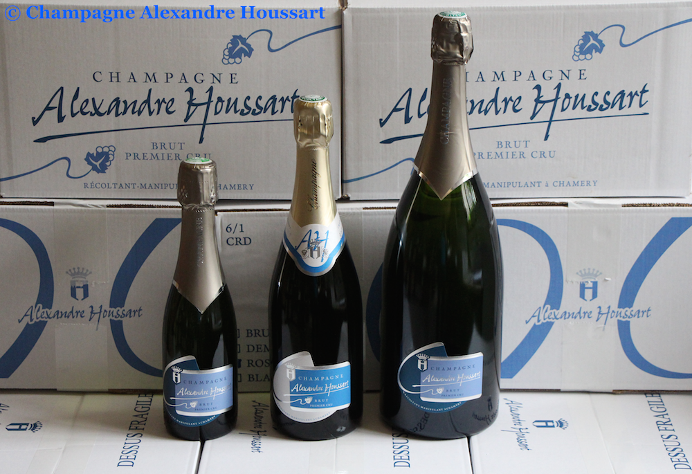 Gamme brut Champagne Alexandre Houssart Chamery: bouteille, magnum ou demi